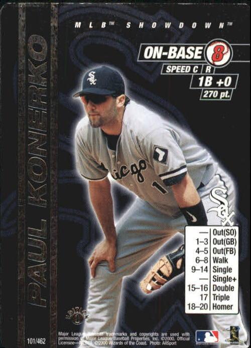 2000 MLB Showdown 1st Edition #101 Paul Konerko
