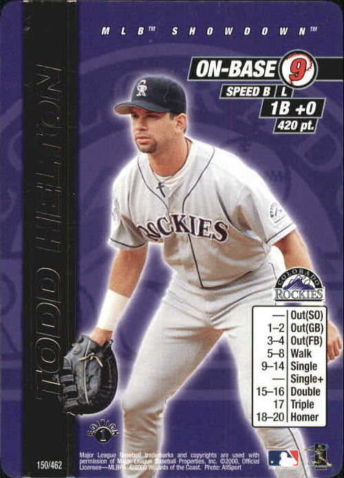 2000 MLB Showdown 1st Edition #150 Todd Helton