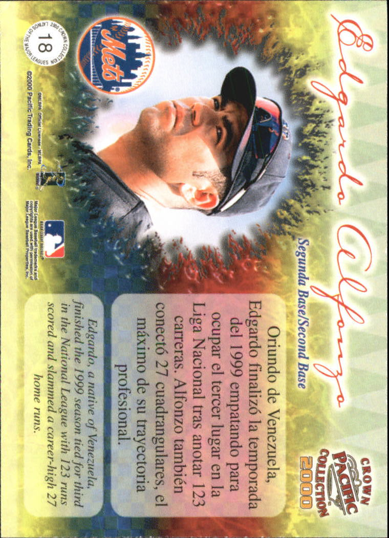 2000 Pacific Crown Collection Latinos of the Major Leagues #18 Edgardo Alfonzo back image