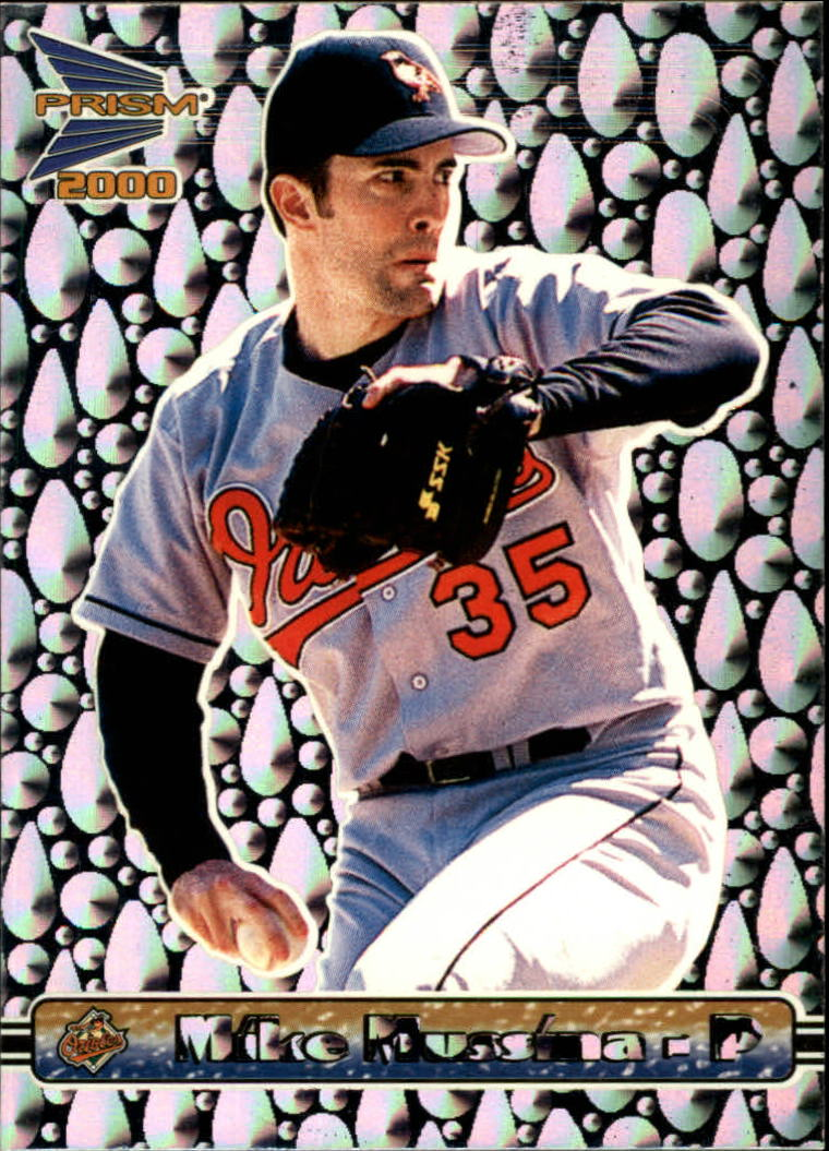 2000 Pacific Prism Drops Silver #18 Mike Mussina *