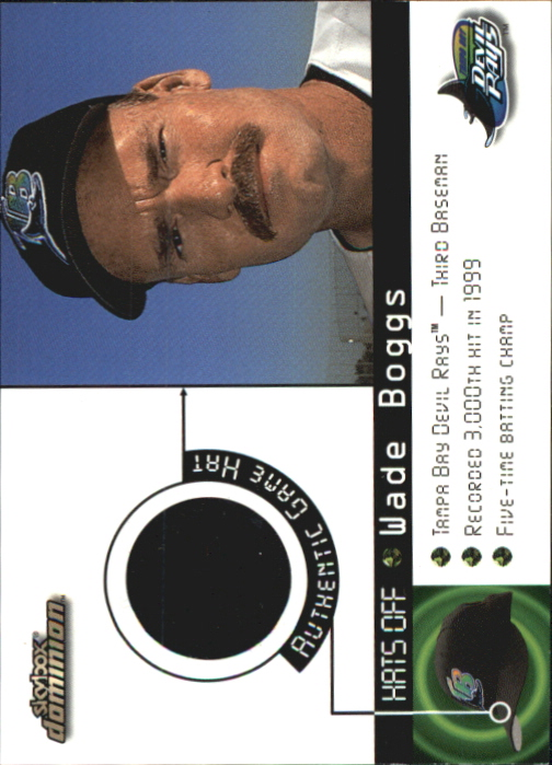 2000 SkyBox Dominion Hats Off #1 Wade Boggs