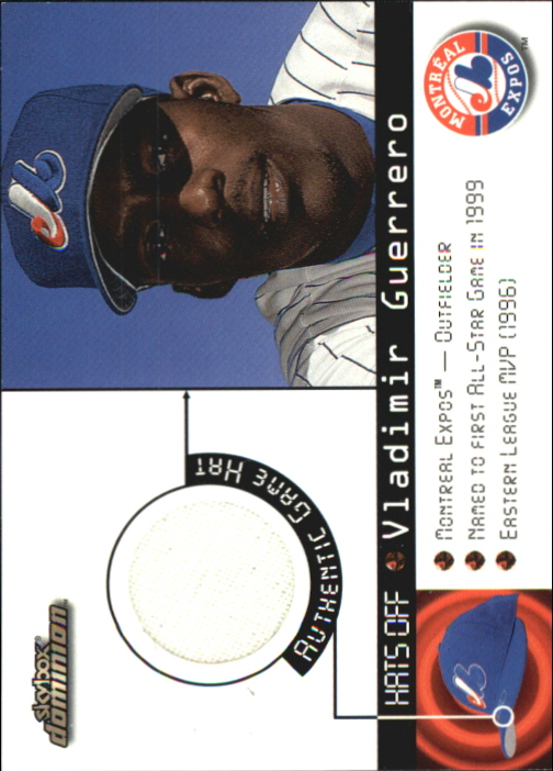 2000 SkyBox Dominion Hats Off #5 Vladimir Guerrero
