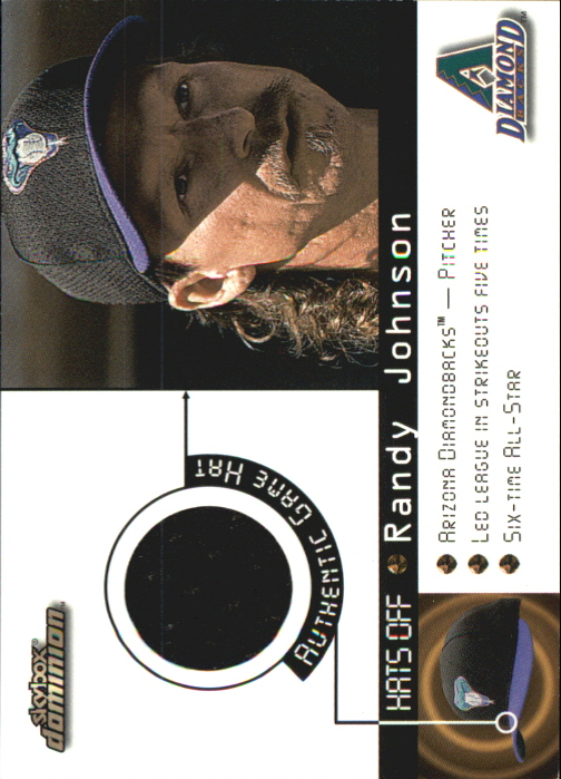 2000 SkyBox Dominion Hats Off #6 Randy Johnson