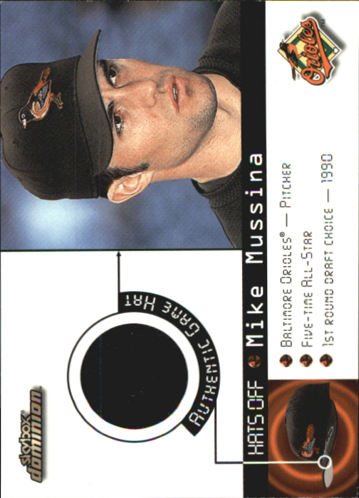 2000 SkyBox Dominion Hats Off #10 Mike Mussina