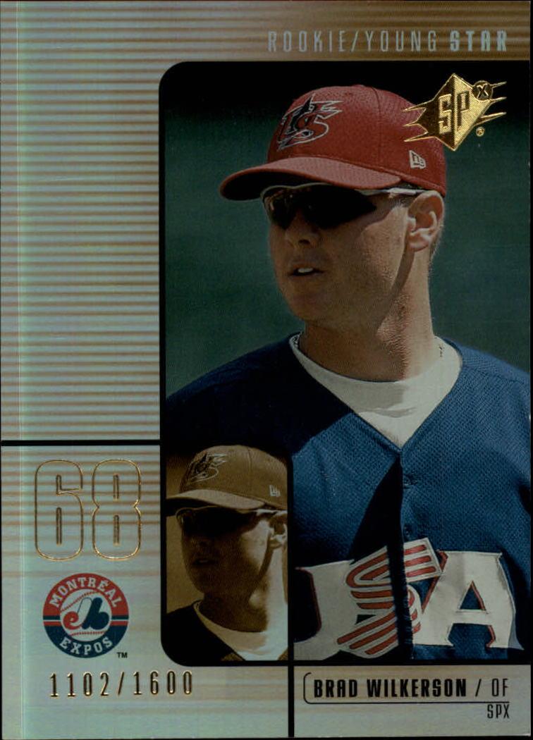 2000 SPx #121 Brad Wilkerson/1600 RC