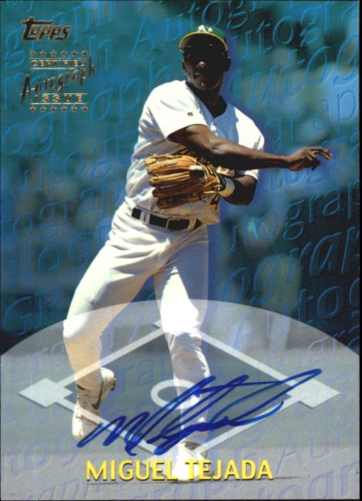 2000 Topps Autographs #TA29 Miguel Tejada D