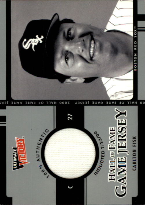 2000 Ultimate Victory Hall of Fame Game Jersey #CF Carlton Fisk