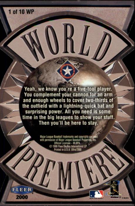 2000 Ultra World Premiere #1 Ruben Mateo back image