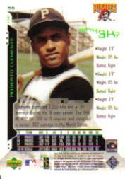 2000 Upper Deck Hitter's Club #56 Roberto Clemente W3K back image