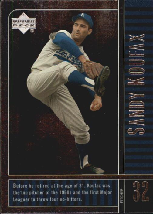 2000 Upper Deck Legends #28 Sandy Koufax