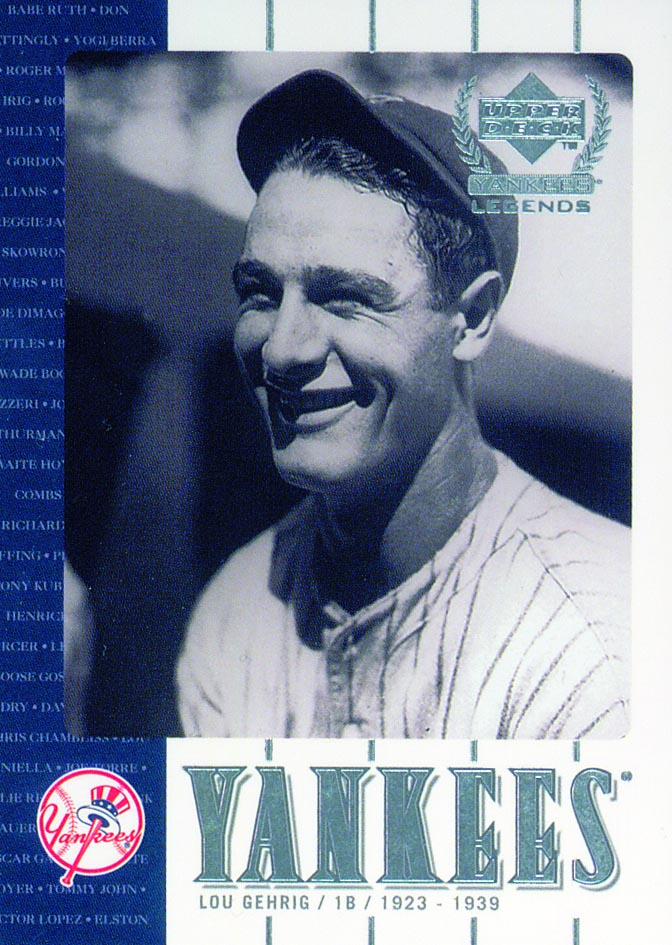 2000 Upper Deck Yankees Legends #3 Lou Gehrig