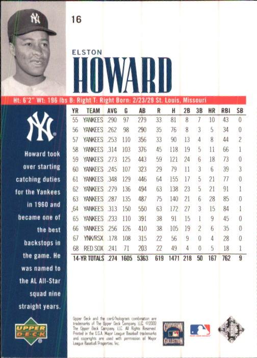 2000 Upper Deck Yankees Legends #16 Elston Howard back image