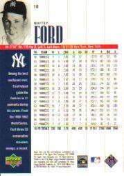 2000 Upper Deck Yankees Legends #18 Whitey Ford back image