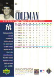 2000 Upper Deck Yankees Legends #23 Jerry Coleman back image