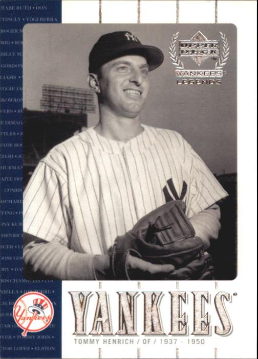 2000 Upper Deck Yankees Legends #30 Tommy Henrich