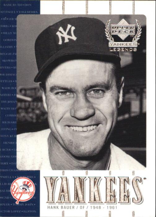 2000 Upper Deck Yankees Legends #31 Hank Bauer