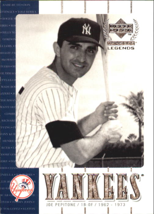 2000 Upper Deck Yankees Legends #32 Joe Pepitone