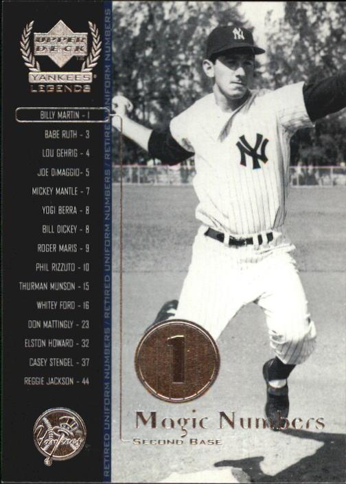 2000 Upper Deck Yankees Legends #51 Billy Martin MN