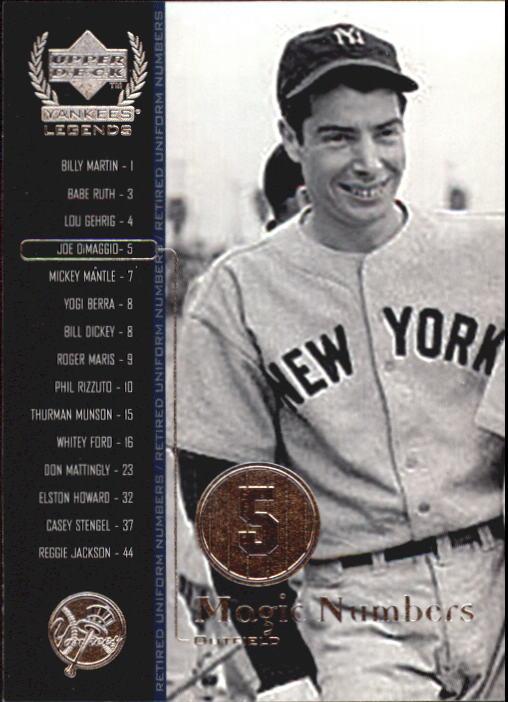 2000 Upper Deck Yankees Legends #54 Joe DiMaggio MN