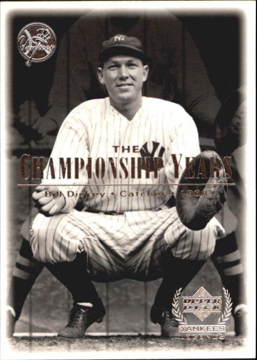 2000 Upper Deck Yankees Legends #72 Bill Dickey '38 TCY