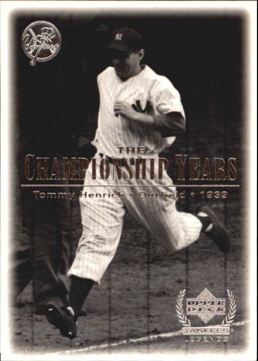 2000 Upper Deck Yankees Legends #73 Tommy Henrich '39 TCY