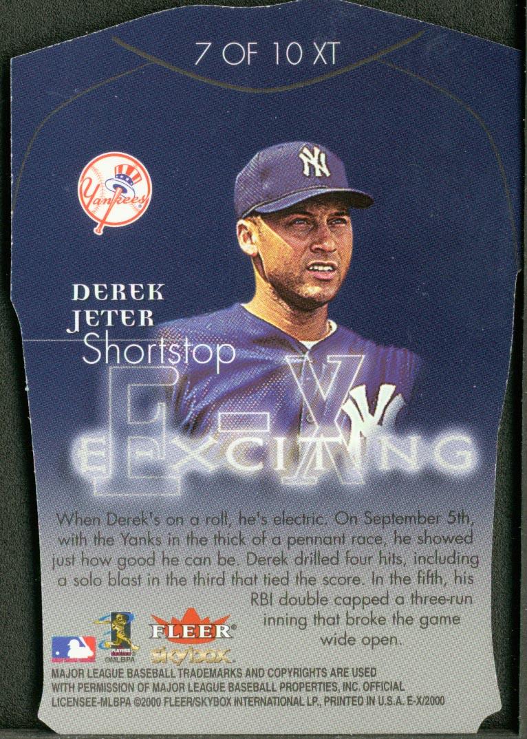 2000 E-X E-Xciting #XT7 Derek Jeter back image