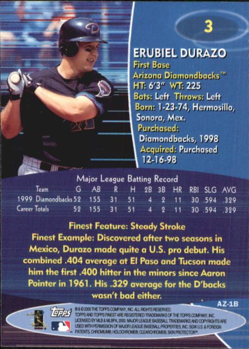 2000 Finest #3 Erubiel Durazo back image