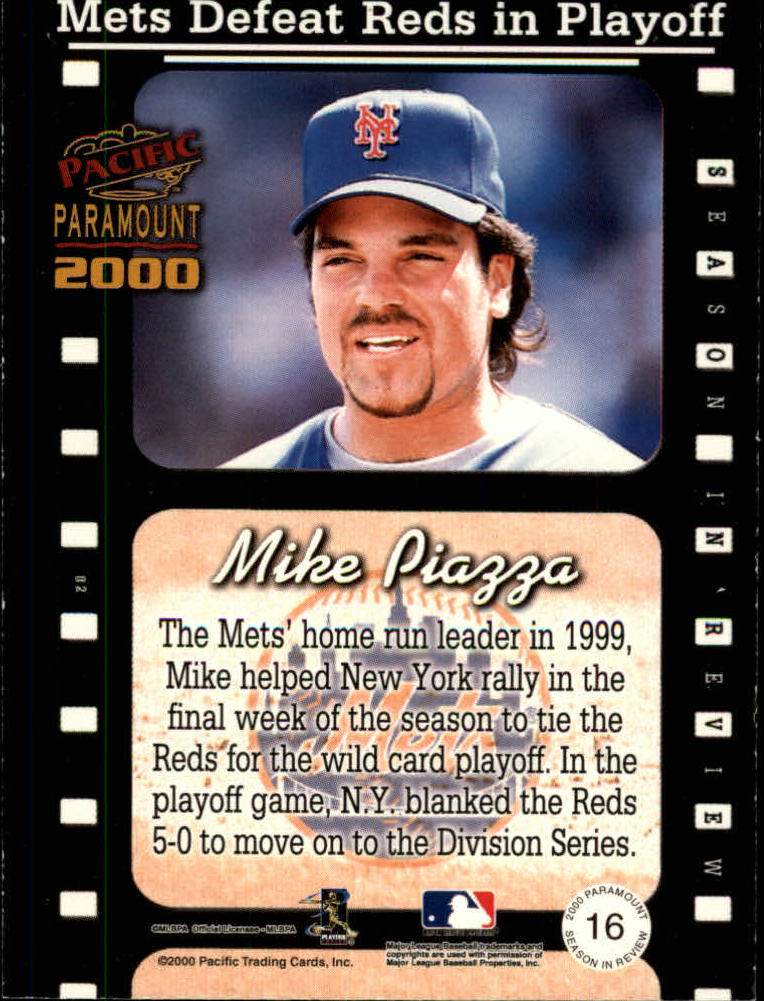 2000 Paramount Season in Review #16 Mike Piazza back image