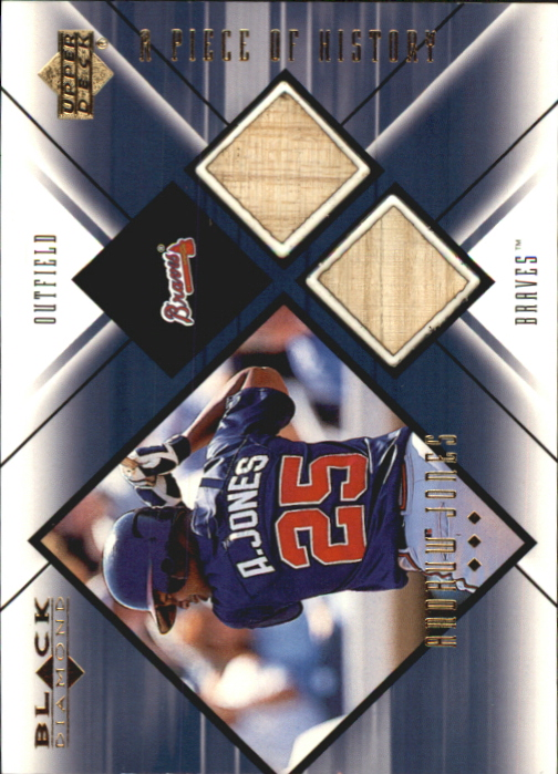 2000 Black Diamond A Piece of History Double #AJ Andruw Jones