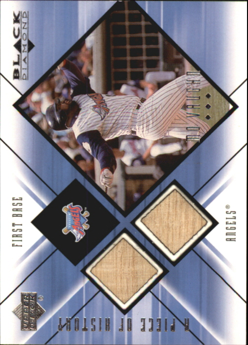 2000 Black Diamond A Piece of History Double #MV Mo Vaughn