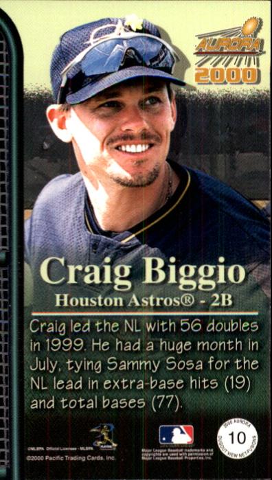 2000 Aurora Dugout View Net Fusions #10 Craig Biggio back image