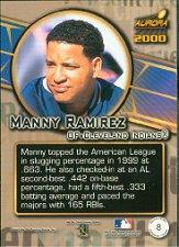 2000 Aurora Pennant Fever #8 Manny Ramirez back image