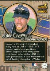 2000 Aurora Pennant Fever #10 Jeff Bagwell back image