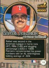2000 Aurora Pennant Fever #19 Rafael Palmeiro back image