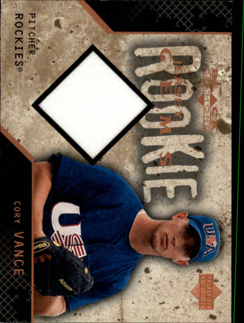 2000 Black Diamond Rookie Edition #136 Cory Vance JSY RC