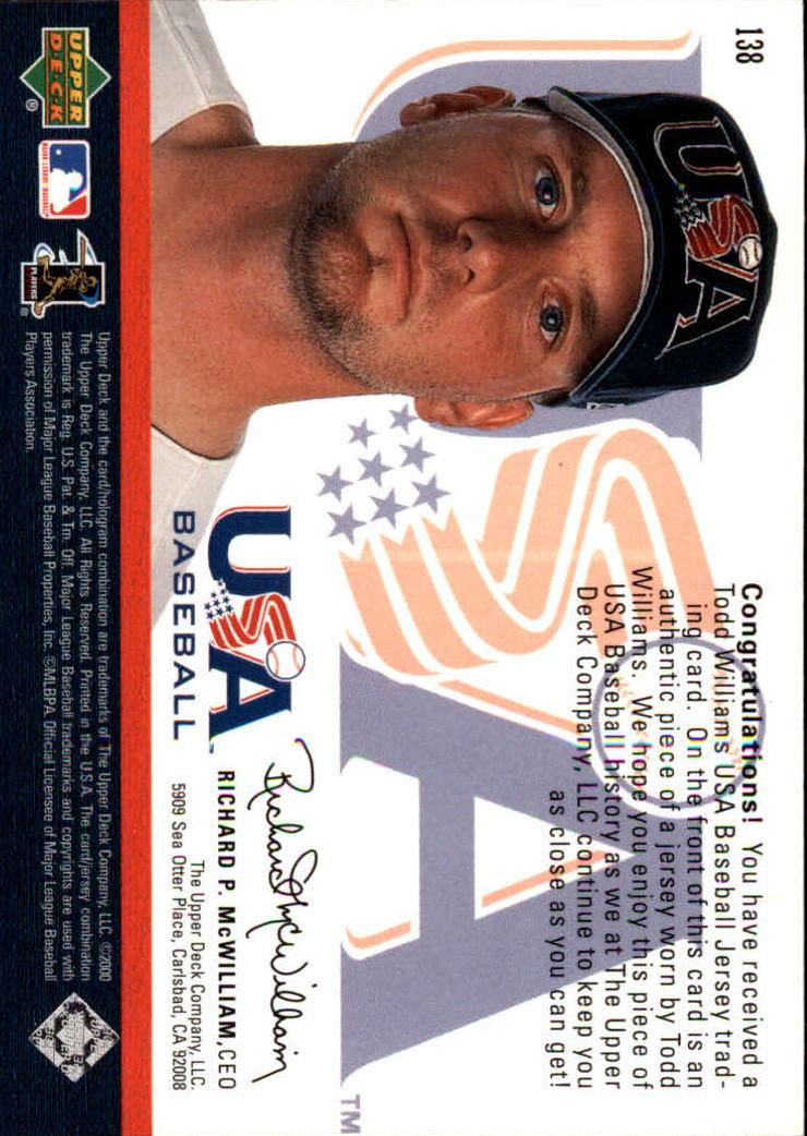 2000 Black Diamond Rookie Edition #138 Todd Williams USA back image
