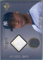 2000 Black Diamond Rookie Edition Authentic Pinstripes #APC Derek Jeter Cap/200
