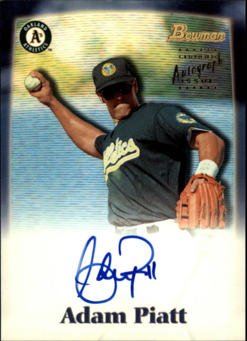2000 Bowman Draft Autographs #BDPA8 Adam Piatt