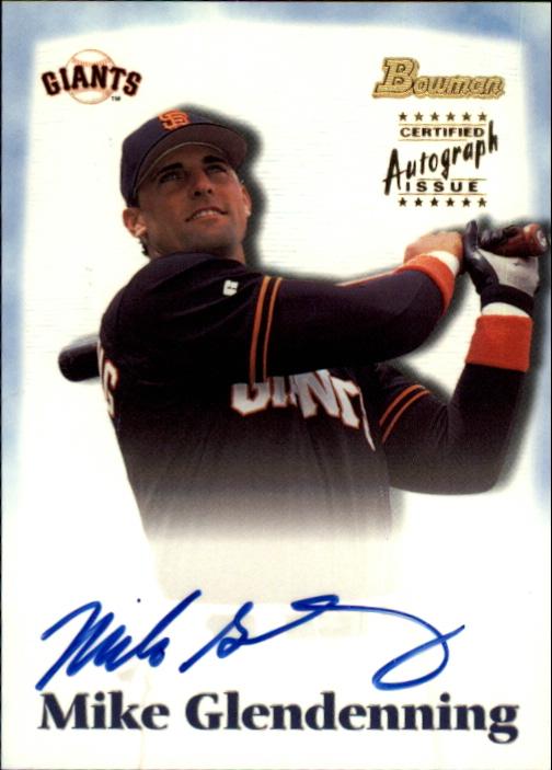 2000 Bowman Draft Autographs #BDPA18 Mike Glendenning