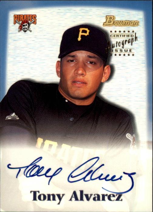 2000 Bowman Draft Autographs #BDPA19 Tony Alvarez