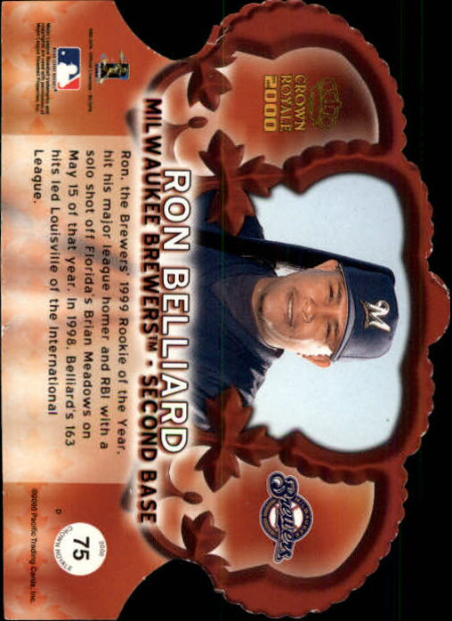2000 Crown Royale Limited #75 Ron Belliard back image