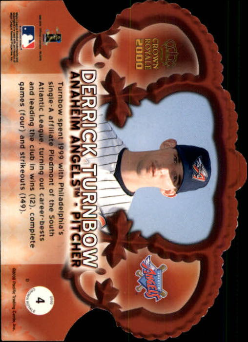 2000 Crown Royale Premiere Date #4 Derrick Turnbow back image