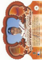 2000 Crown Royale Premiere Date #13 Andruw Jones back image