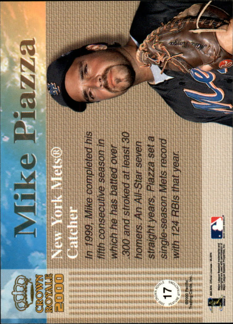 2000 Crown Royale Feature Attractions #17 Mike Piazza back image