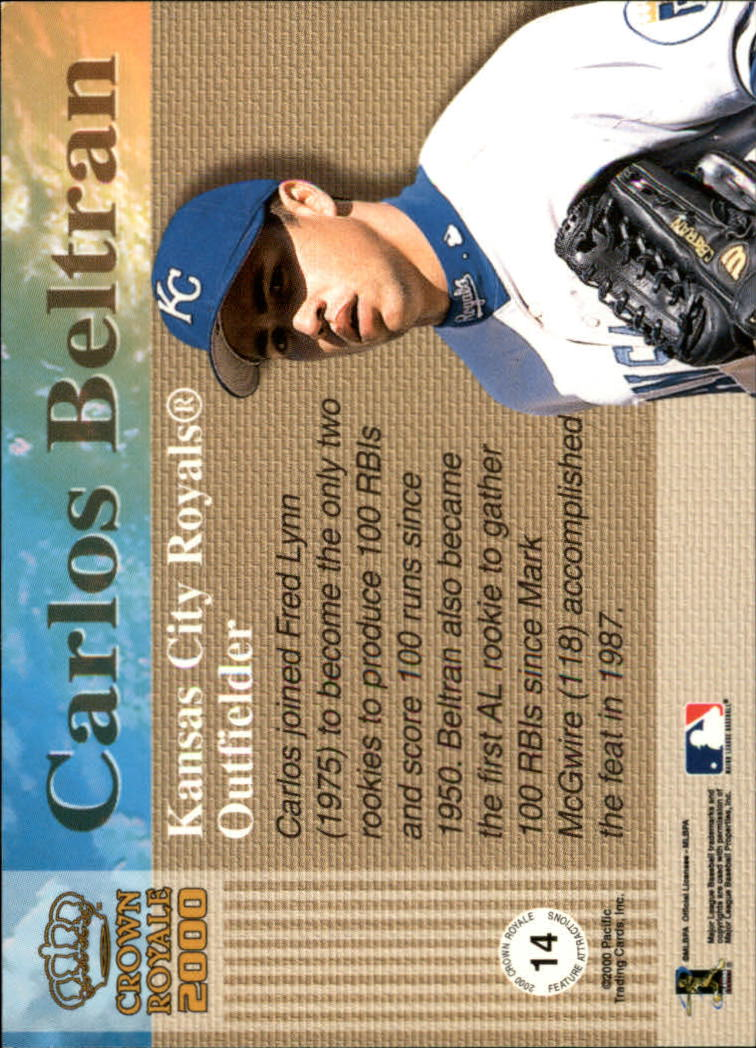 2000 Crown Royale Feature Attractions Exclusive Showings #14 Carlos Beltran back image