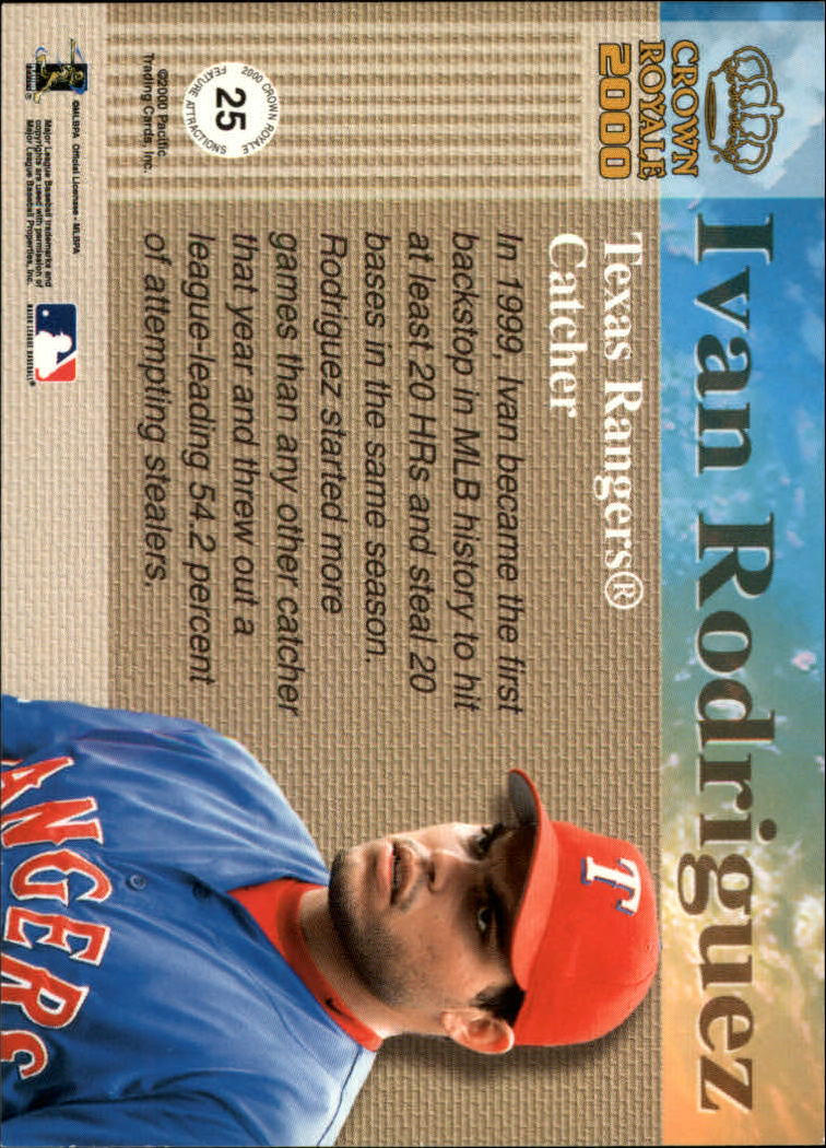 2000 Crown Royale Feature Attractions Exclusive Showings #25 Ivan Rodriguez back image