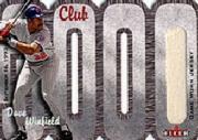 2000 Fleer Club 3000 Memorabilia #DW3 D.Winfield Jersey/825