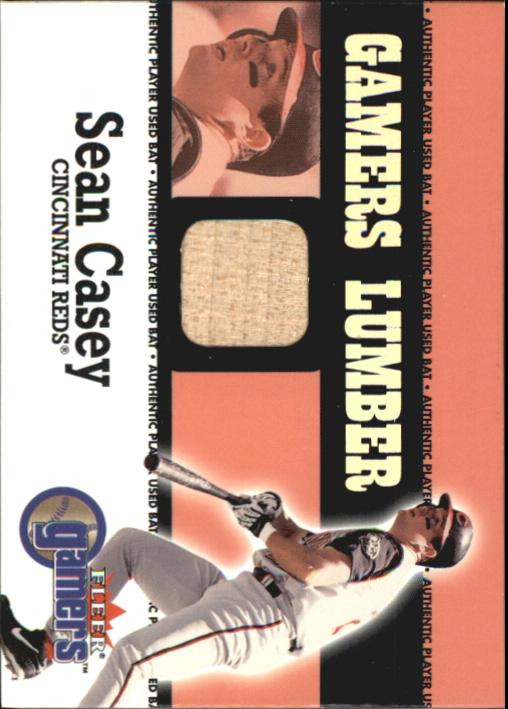 2000 Fleer Gamers Lumber #10 Sean Casey