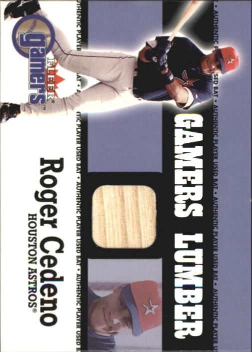 2000 Fleer Gamers Lumber #11 Roger Cedeno