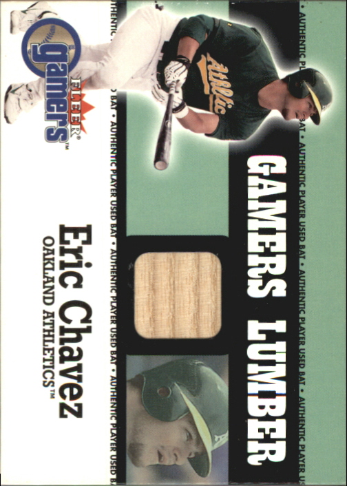 2000 Fleer Gamers Lumber #12 Eric Chavez